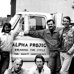 Alpha Project was Founded in 1986 as a simple project offering work opportunities for homeless men.